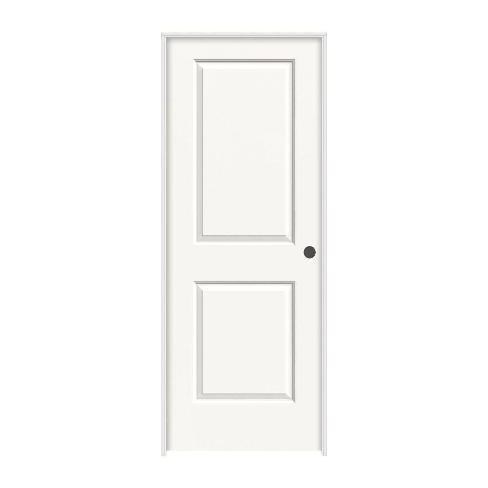 JELD-WEN 32 in. x 80 in. Cambridge White Painted Left-Hand