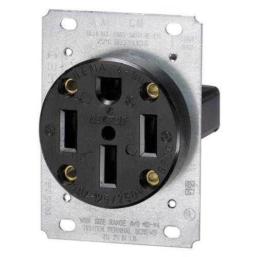 small resolution of leviton 50 amp flush mount shallow single outlet black r10 00279 any electricians in the house wiring your nema 1450 gang plug