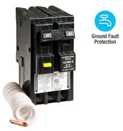 square d homeline 50 amp 2 pole gfci circuit breaker [ 1000 x 1000 Pixel ]