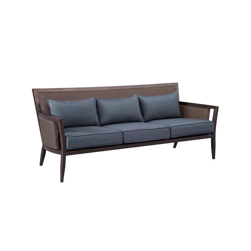 capetown sofa in oatmeal air beds brown jordan greystone patio with denim cushions custom
