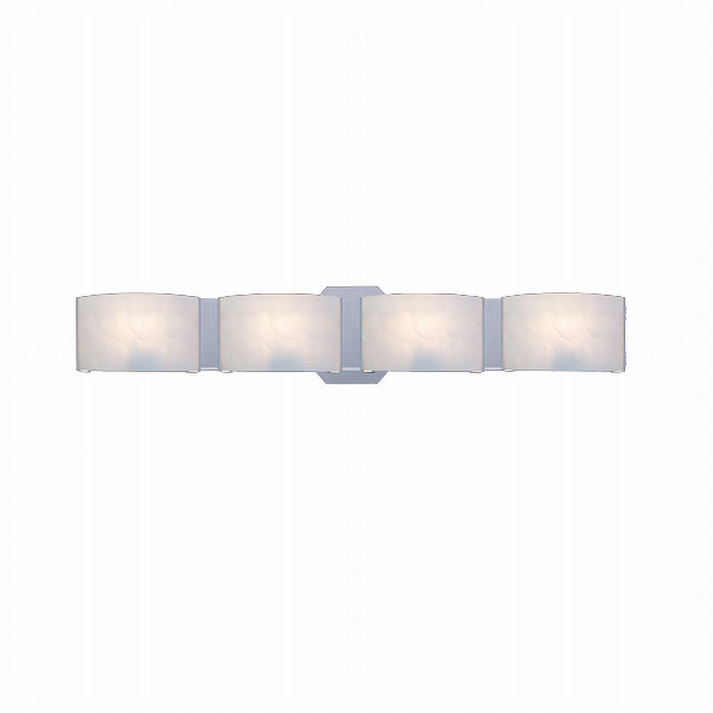 medium resolution of hampton bay dakota 4 light satin nickel vanity light with frosted glass shades