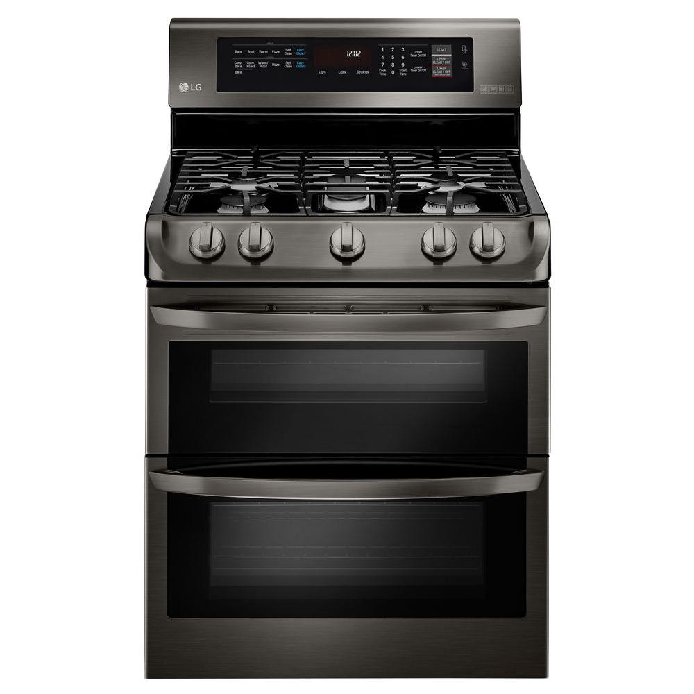 hight resolution of 6 9 cu ft double oven gas range with probake convection oven