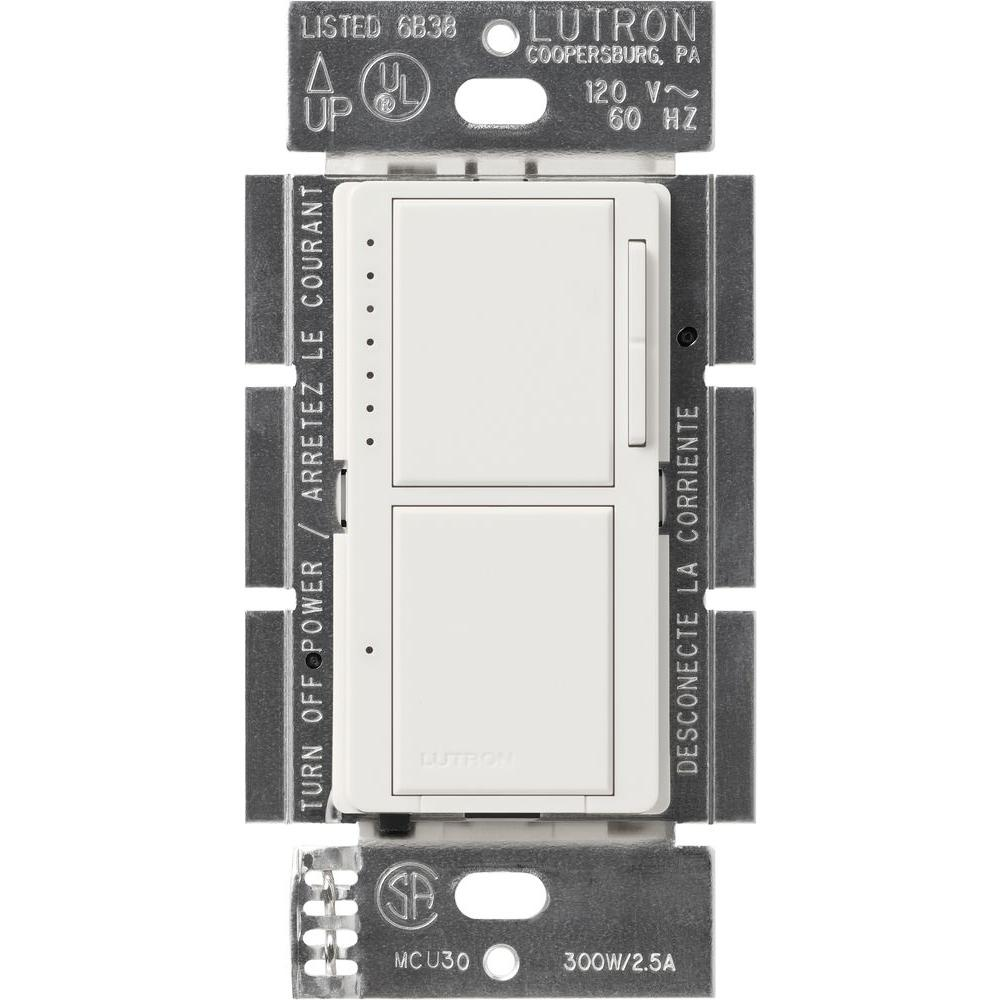 medium resolution of lutron maestro 300 watt single pole dual dimmer and switch white