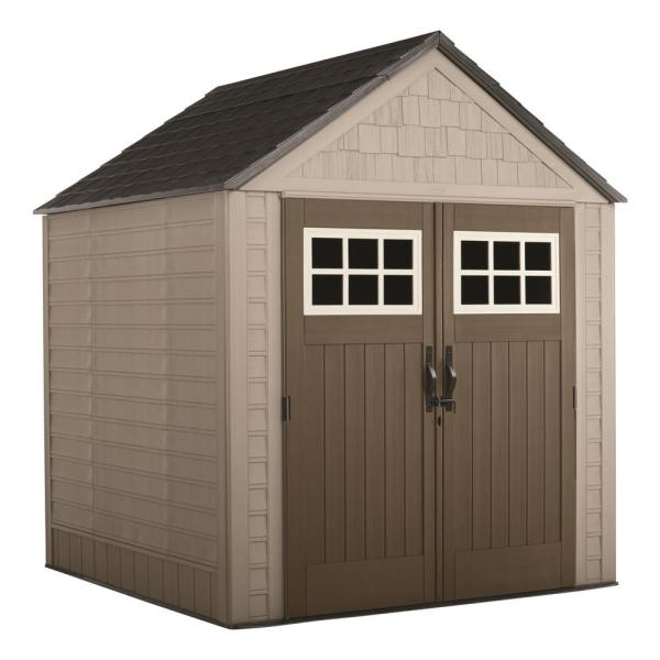 Rubbermaid Big Max 7 Ft. X Storage Shed Browns Tans Online Shopping