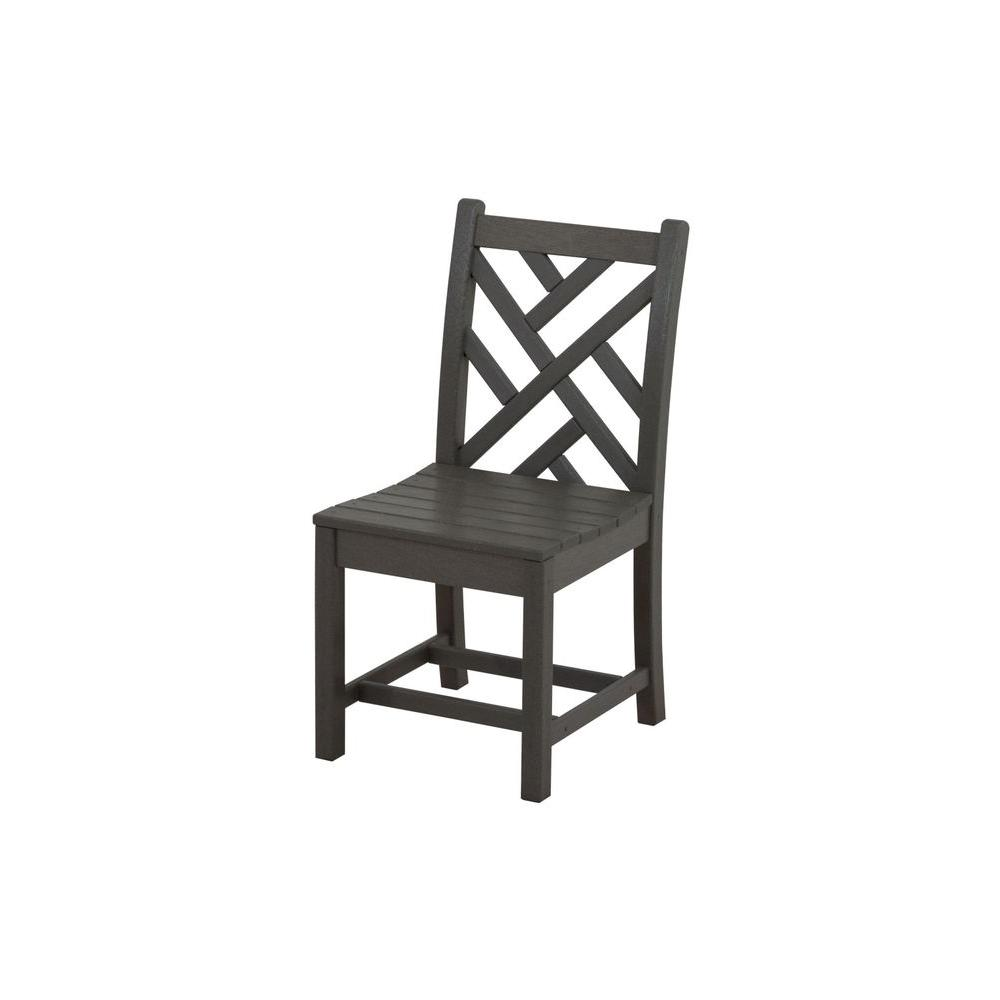 chippendale dining chair high back modern polywood slate grey all weather plastic outdoor side