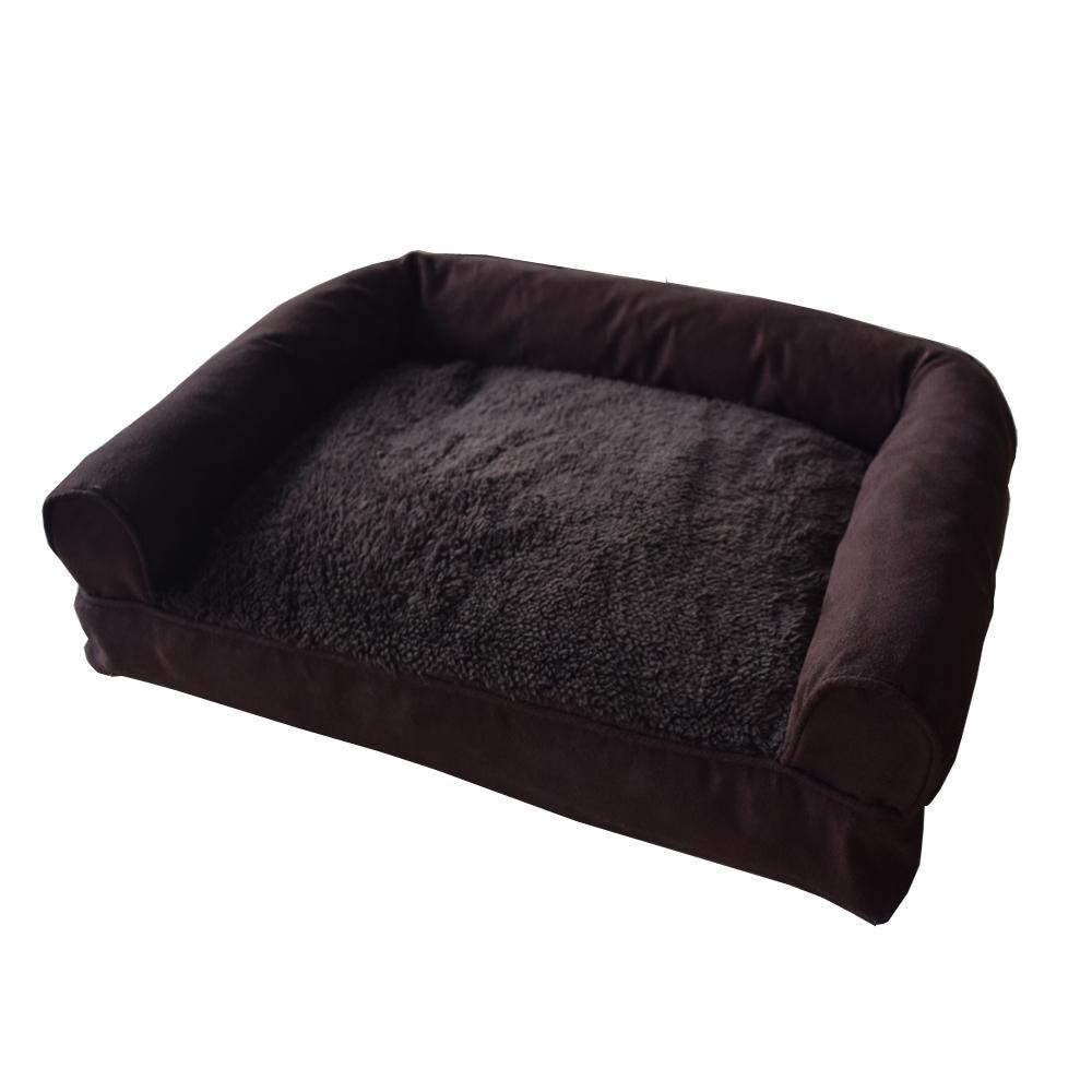 soft sofa dog bed navan factory contact small to medium xl brown suede pet warm cushion internet 305350661