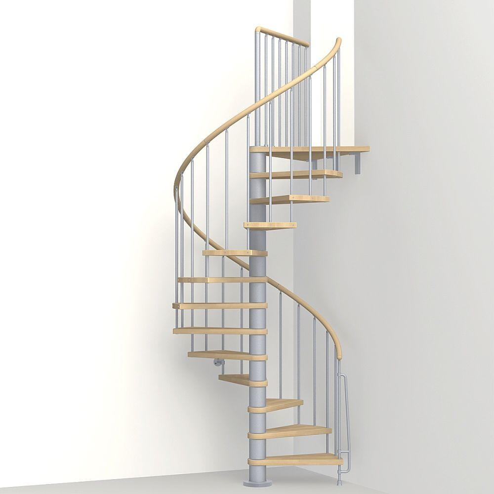 Arke Phoenix 47 In Grey Spiral Staircase Kit K07142 The Home Depot | Outdoor Spiral Staircase Home Depot | Reroute Galvanized | Handrail | Arke Nice1 | Arke Enduro | Galvanized Exterior