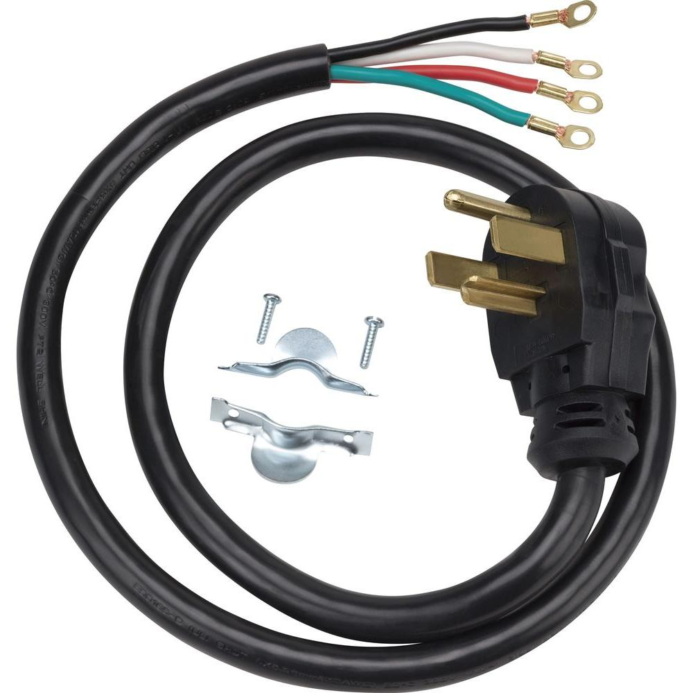 medium resolution of ge 4 ft 4 prong 30 amp dryer cord wx09x10018ds the home depot 4 prong 220 wiring diagram 4 prong dryer plug ul wiring diagram