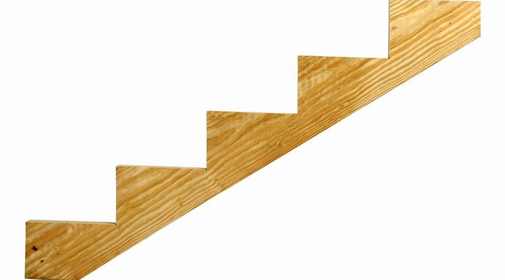 5 Step Ground Contact Pressure Treated Pine Stair Stringer 0623554 | Wood Stringers For Stairs | Metal | Double Stringer | Stair Tread | Framing Square | Risers