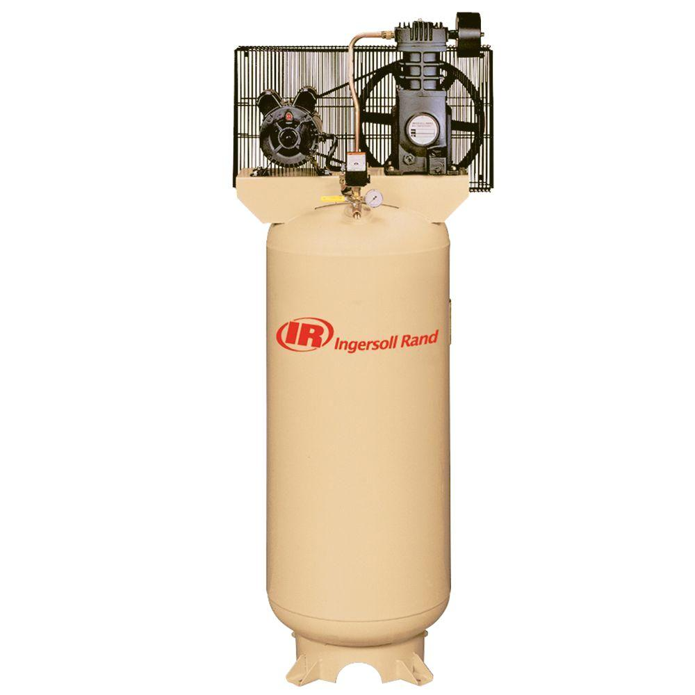 hight resolution of ingersoll rand reciprocating 60 gal 5 hp electric 230 volt with single phase air compressor ingersoll rand 2475n7 5 wire diagram model
