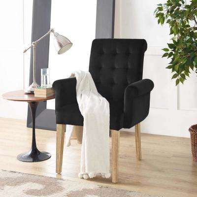 black farmhouse chairs top rated executive office living room furniture the home depot premise velvet armchair in
