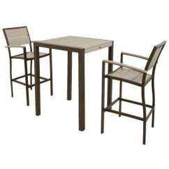 Outdoor Bar Table And Chairs Rocking Chair Classic Height Patio Dining Sets Furniture The Home Depot Surf