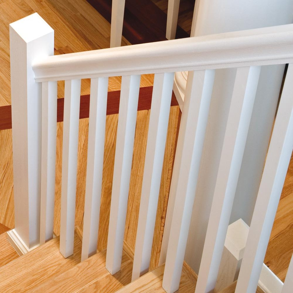 Stair Parts 41 In X 1 1 4 In Primed Square Baluster 5060X 041 | Stair Posts And Spindles | Stairway | Newel Post | Inexpensive | Rectangular | Railing