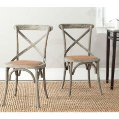 X Back Chairs Antique Birthing Chair Safavieh Franklin Distressed Colonial Walnut Dining Set Of 2