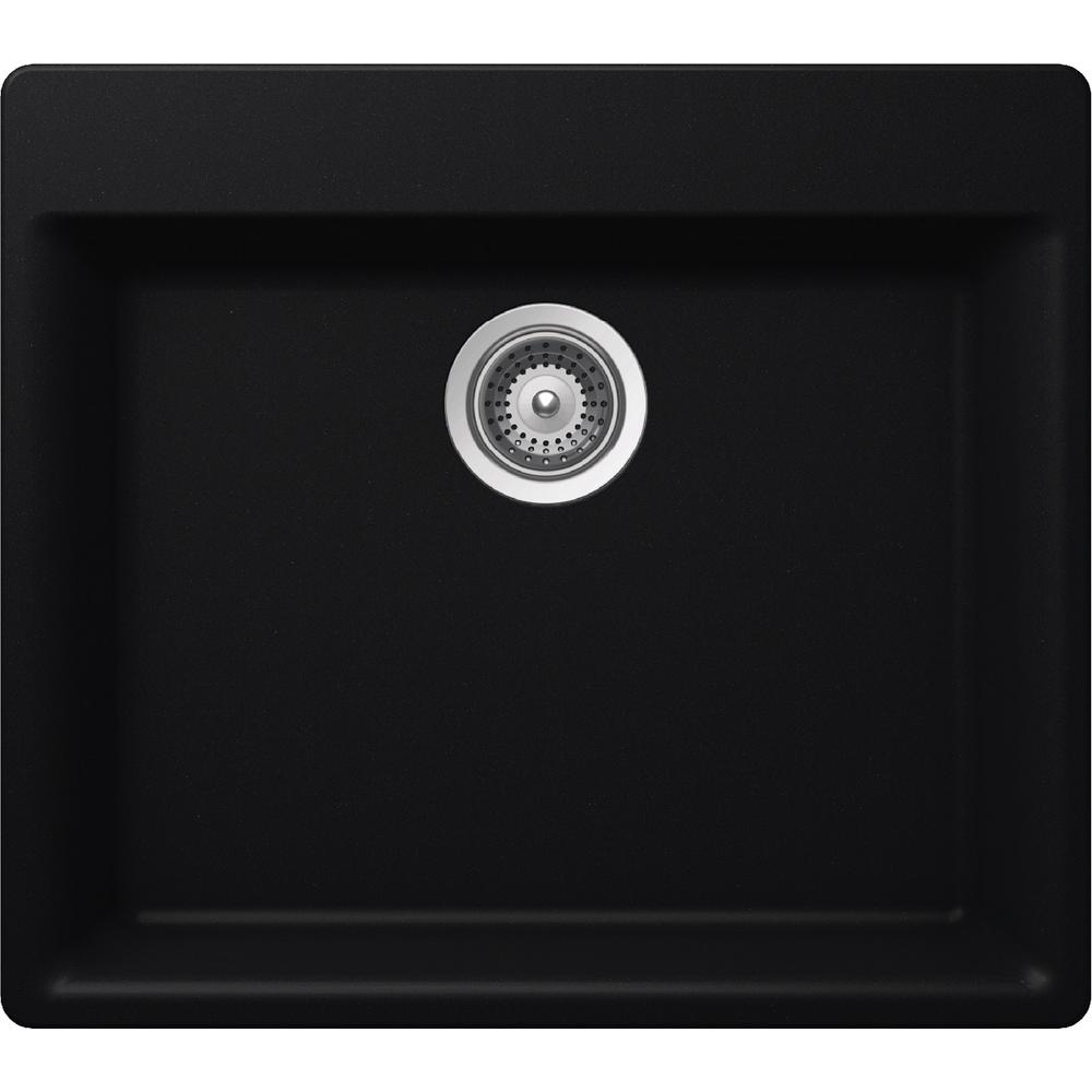 elkay kitchen sinks ideas for small by schock drop in undermount quartz composite 23 single bowl sink black