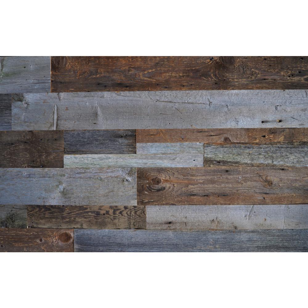 reclaimed wood brown gray