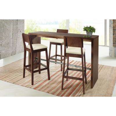 kitchen dining tables outdoor flat top grill room furniture the home gourmet 39 4 in cinnamon counter height bar table