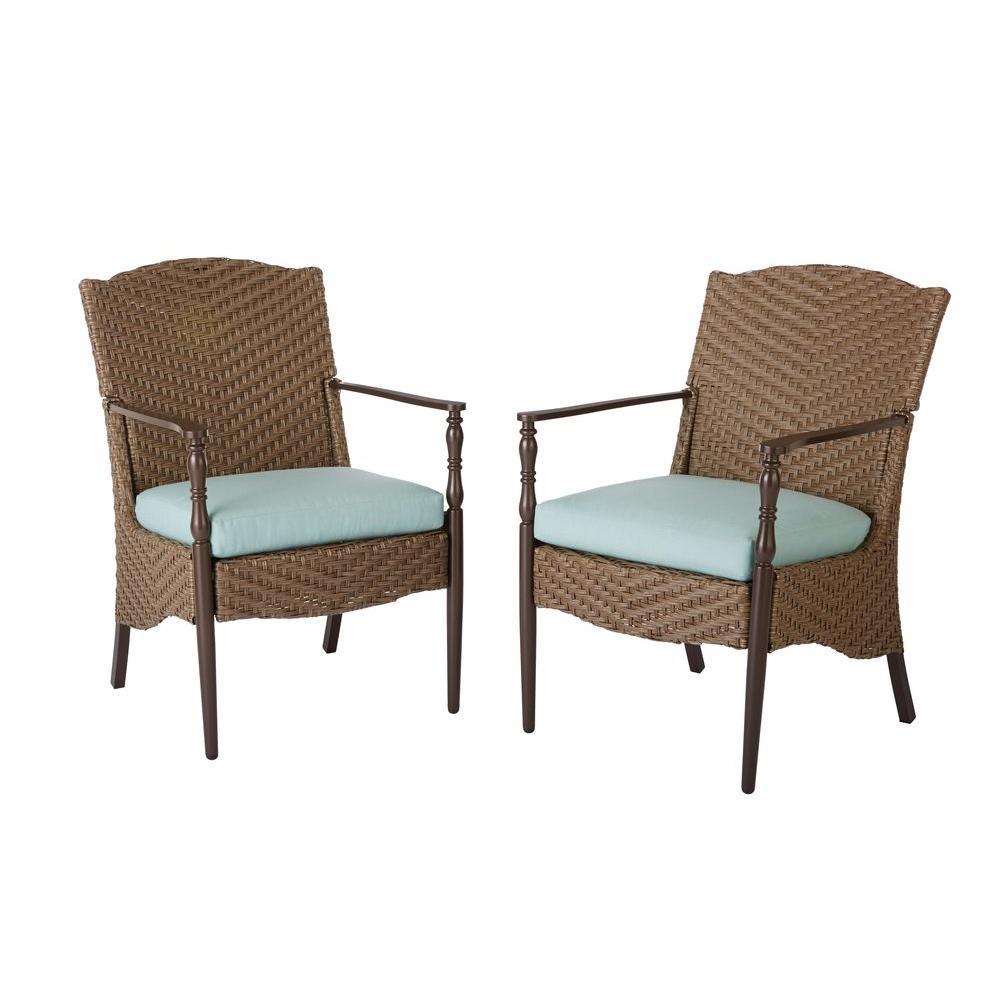outdoor swivel chairs uk baby room rocking chair brown dining patio the home depot bolingbrook stationary wicker 2 pack