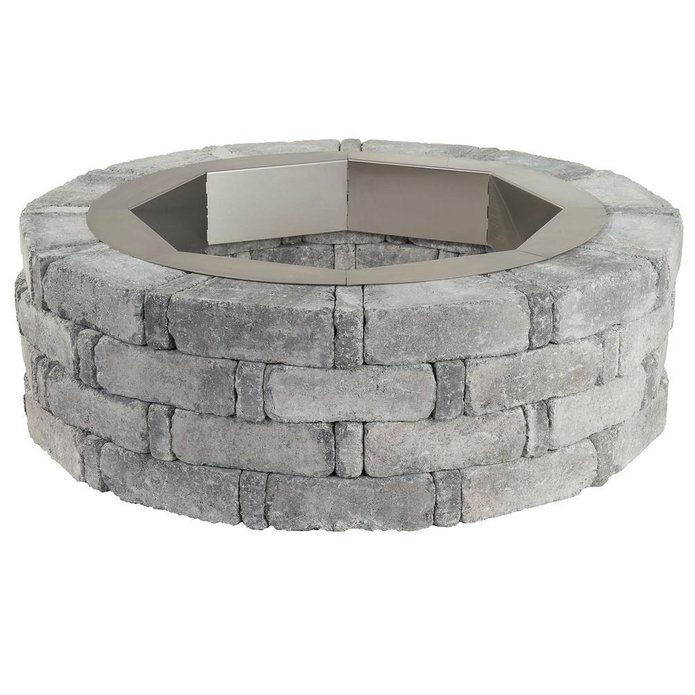 Pavestone RumbleStone 46 in. x 14 in. Round Concrete Fire