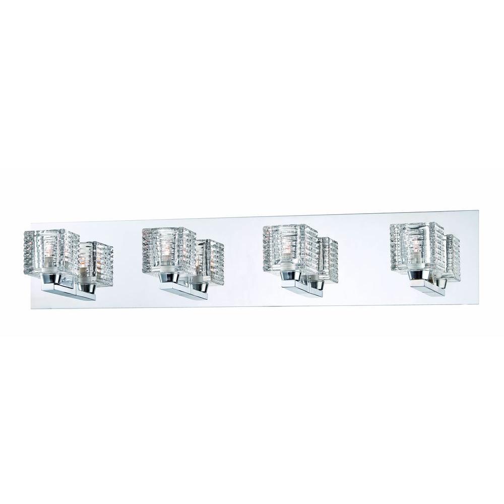 medium resolution of hampton bay olivet 4 light chrome vanity light with cube glass shades