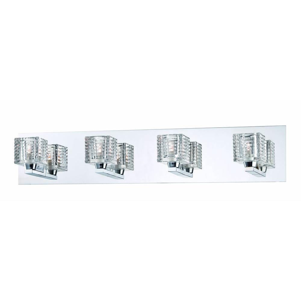 hight resolution of hampton bay olivet 4 light chrome vanity light with cube glass shades