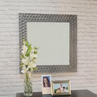Marley Square Antique Pewter Decorative Wall Mirror-M-1284 ...