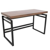 Lumisource Drift Black Metal Frame and Walnut Wood Top ...