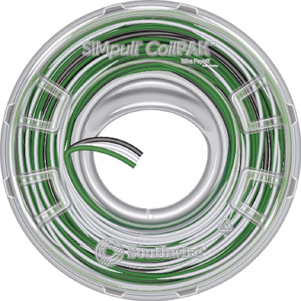 medium resolution of 12 3 black white green solid cu coilpak simpull thhn
