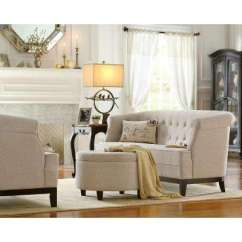 Living Room Loveseat Affordable Area Rugs Home Decorators Collection Beige Sofas Loveseats Emma Textured Natural Chenille