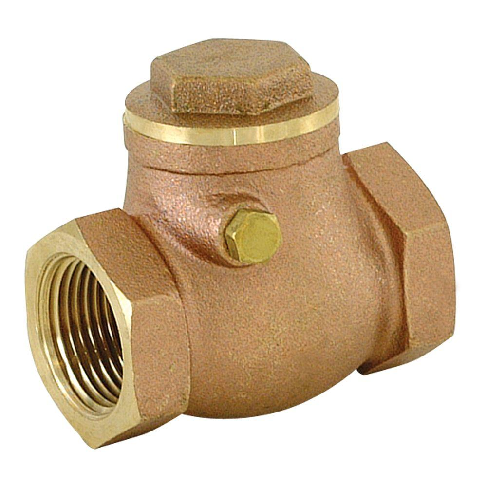 Ez Flo 1 In Brass Swing Check Valve 20425lf The Home Depot
