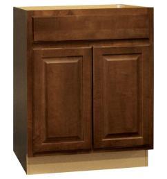 hampton assembled 27x34 5x24 in base kitchen cabinet with ball bearing drawer [ 1000 x 1000 Pixel ]
