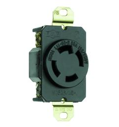 30 amp self grounding locking single outlet receptacle black [ 1000 x 1000 Pixel ]
