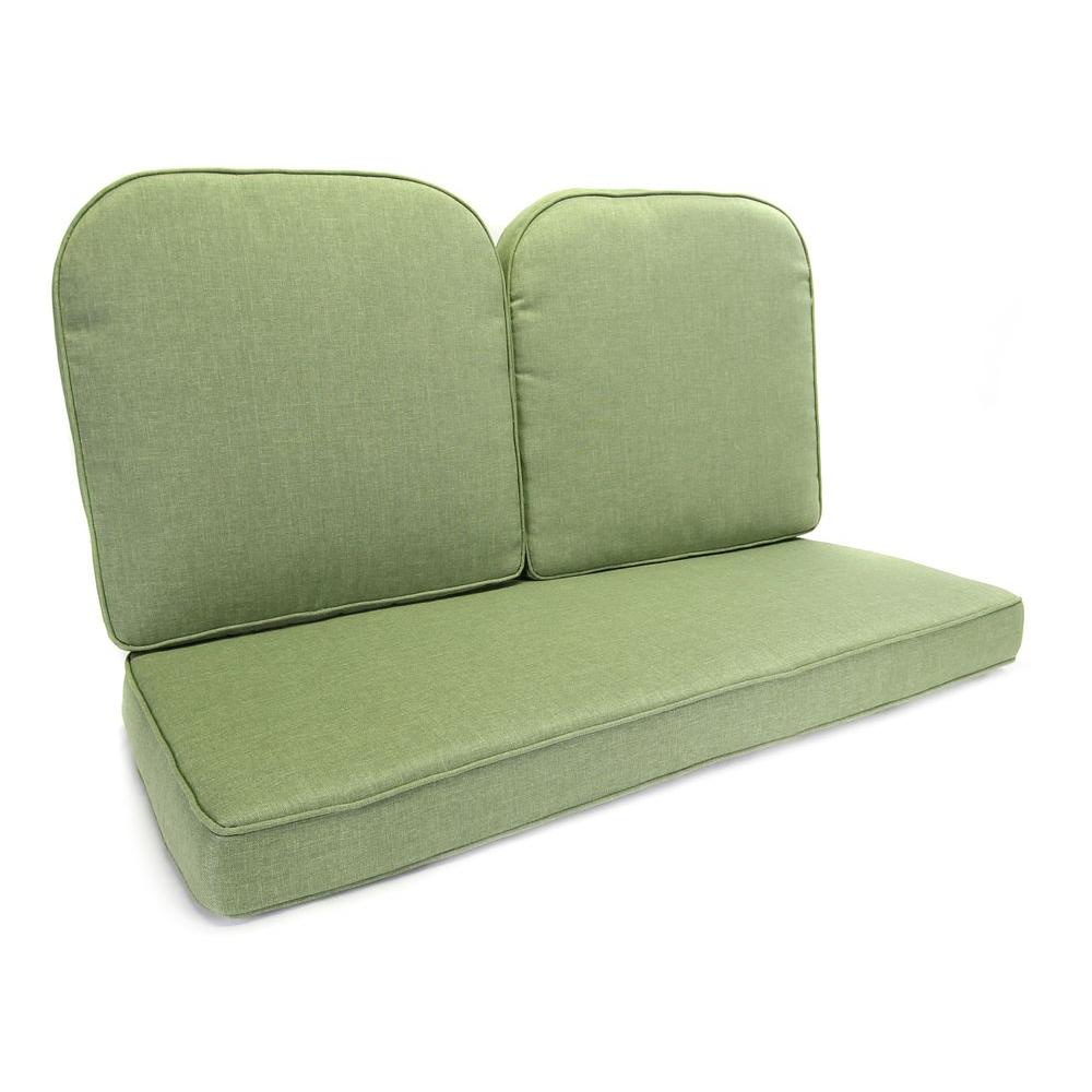 moss studio sofa reviews microfiber cleaning products hampton bay fall river 21 5 x outdoor glider cushion in standard