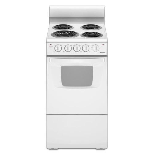 small resolution of amana 2 6 cu ft electric range in white