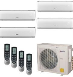 multi 21 zone 30 000 btu 2 5 ton ductless mini split air conditioner with heat inverter remote 208 230 volt 60hz [ 1000 x 1000 Pixel ]