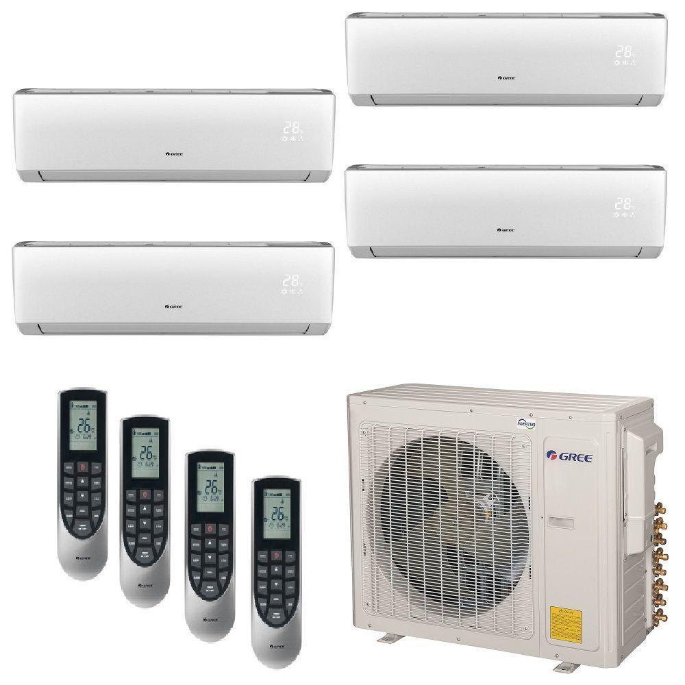 hight resolution of multi 21 zone 30 000 btu 2 5 ton ductless mini split air conditioner with heat inverter remote 208 230 volt 60hz