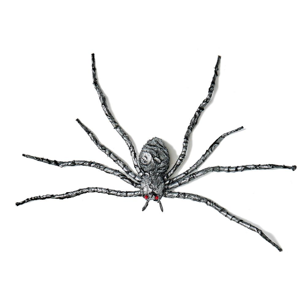 Worth Imports 35 in. Silver and Black Spider Halloween