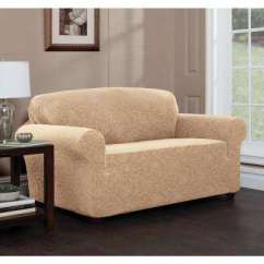 Slipcovers For Living Room Chair Cinema Accessories Stretch Fabric Furniture The Home Depot Floral Loveseat Slipcover