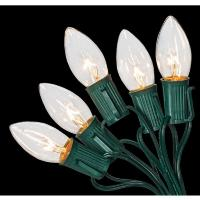 Home Accents Holiday C9 25-Light Clear Color Incandescent ...