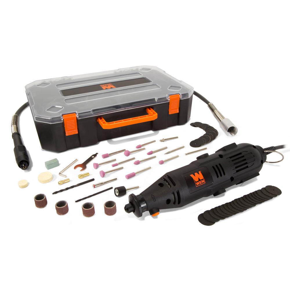 medium resolution of 1 amp variable speed rotary tool with 100 accessories carrying case and flex shaft