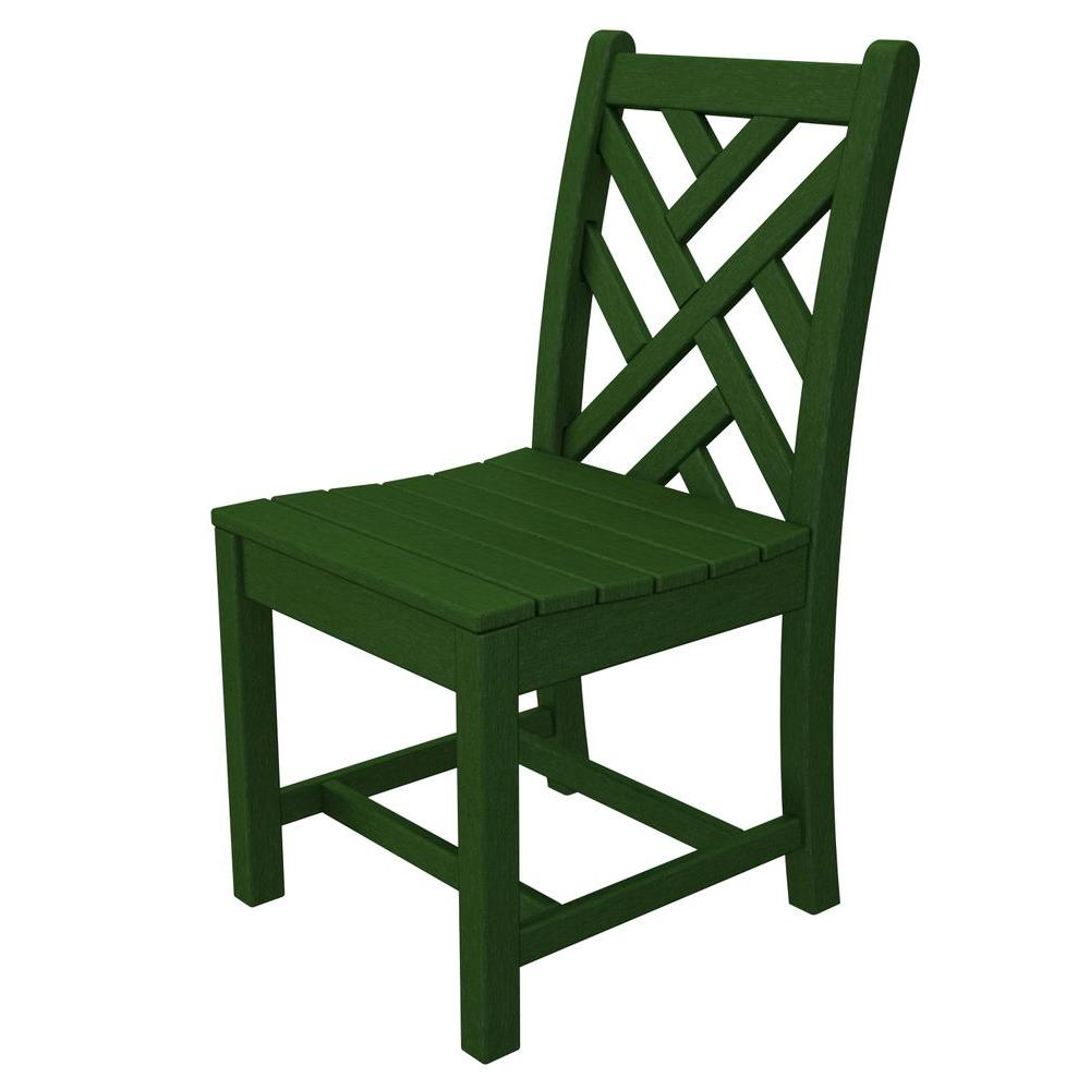 chippendale dining chair gardman garden covers polywood green all weather plastic outdoor side