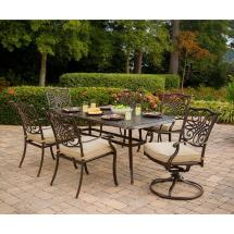 Outdoor Patio 7 Piece Dining Set