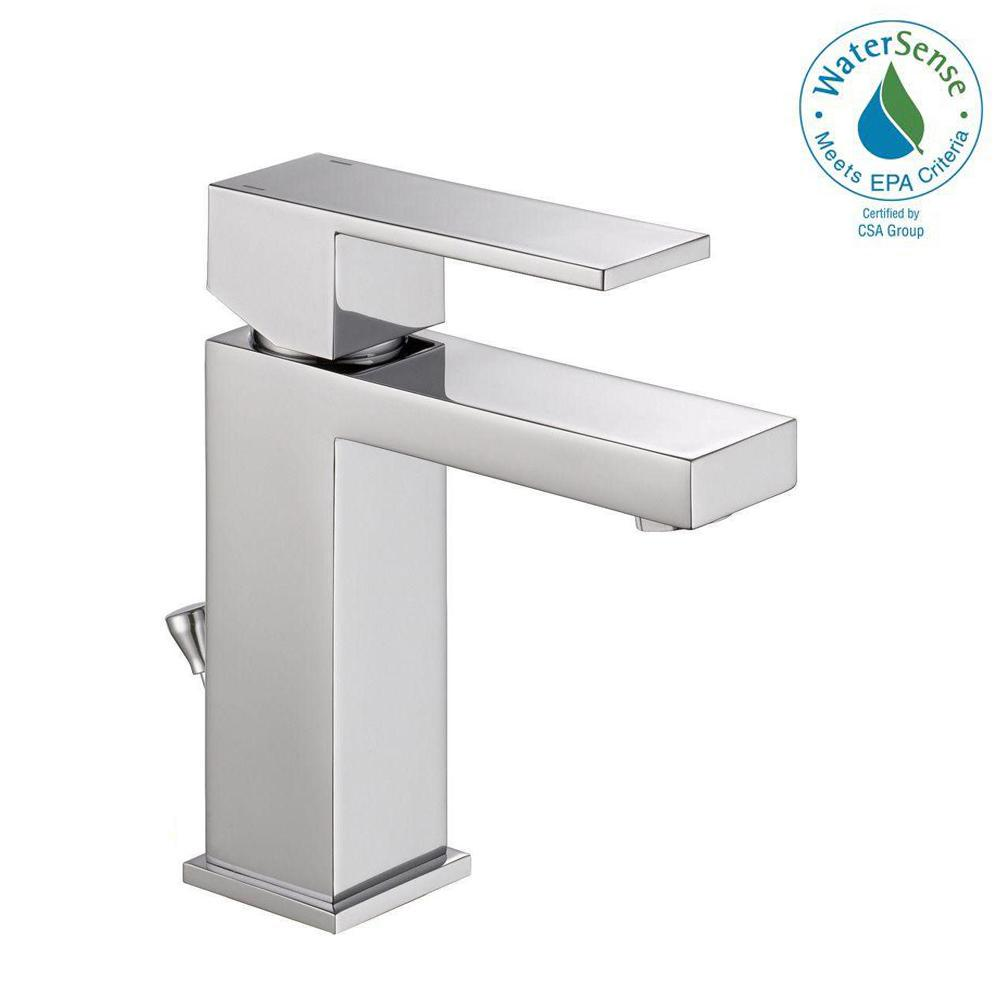 Delta Modern Single Hole SingleHandle Bathroom Faucet in