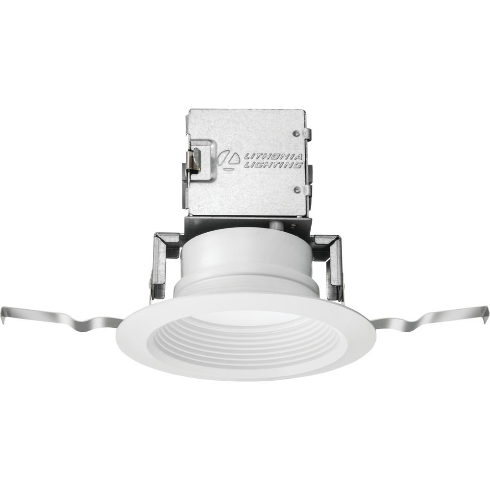 hight resolution of lithonia lighting lithonia oneup 4 in white integrated led recessed kit