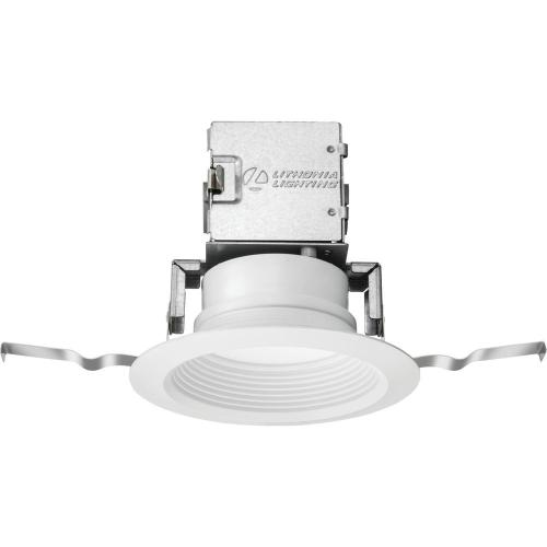small resolution of lithonia lighting lithonia oneup 4 in white integrated led recessed kit