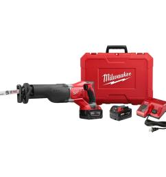 m18 18 volt lithium ion cordless sawzall reciprocating saw w 2 3 0ah batteries charger hard case [ 1000 x 1000 Pixel ]