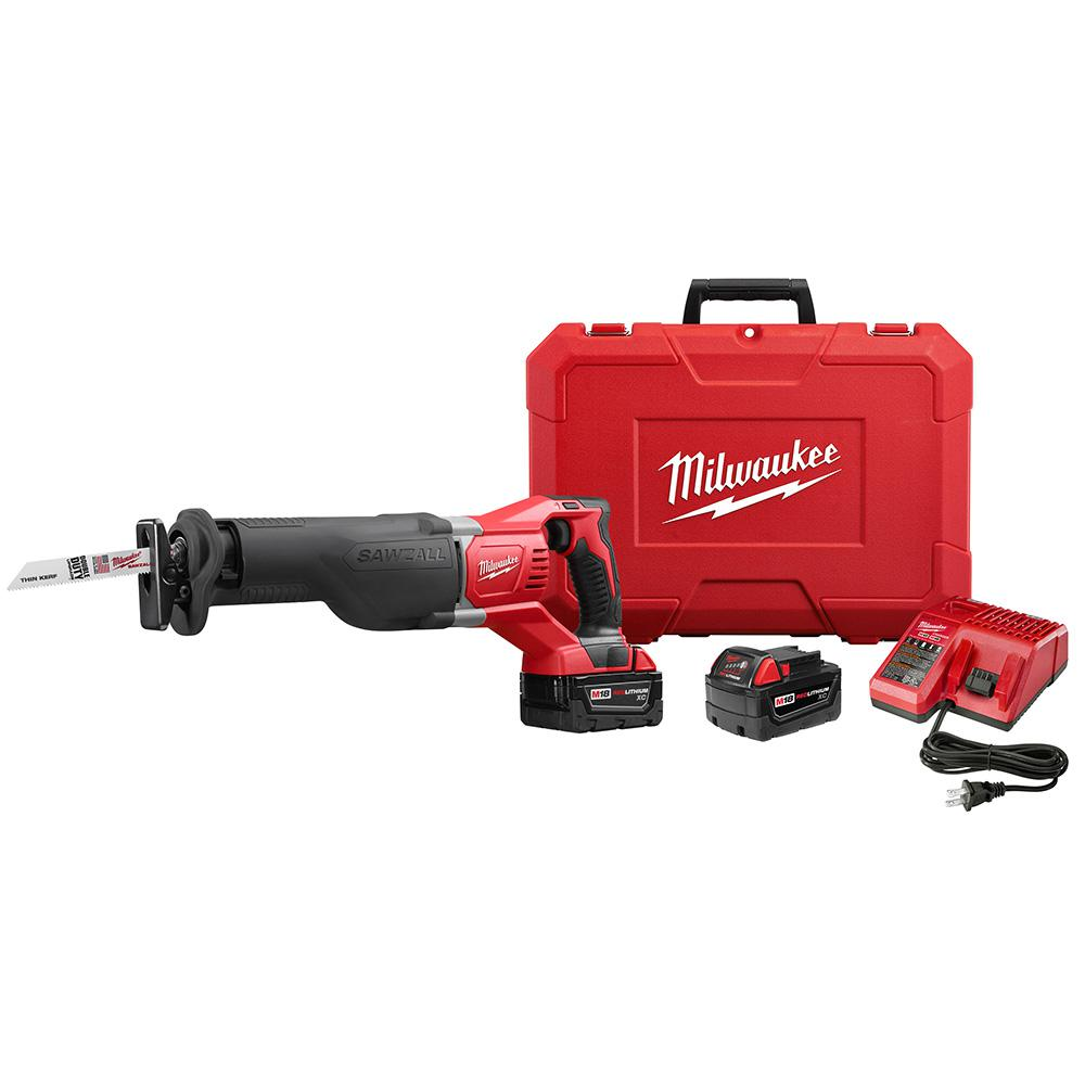 hight resolution of m18 18 volt lithium ion cordless sawzall reciprocating saw w 2 3 0ah batteries charger hard case