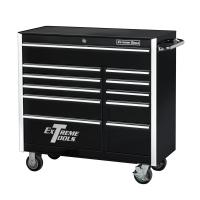 Husky 66 in. W 24 in. D 12-Drawer Heavy-Duty Mobile ...
