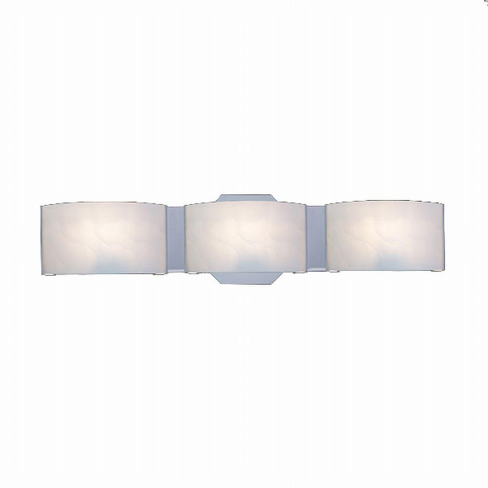 Bathroom Light Fixtures Hampton Bay Dakota 3 Light Satin Nickel Vanity Light With Frosted Glass Shades