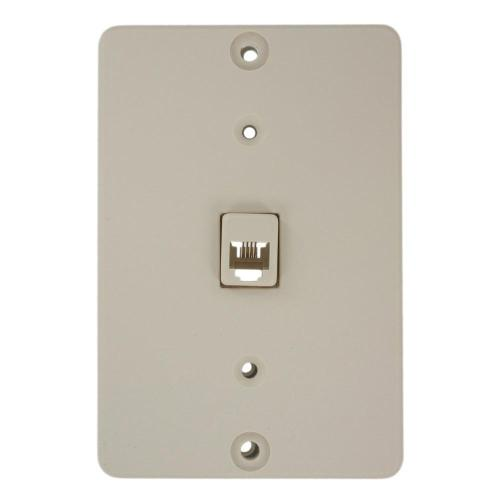 small resolution of leviton telephone wall jack light almond 40253 t the home depot leviton telephone wall jack light